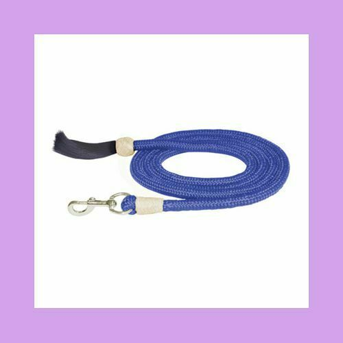 Action Company Braided Lead with Horsehair Tassel Lavender 9 Foot