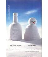 Chivas Regal Scotch 1995 Liquor Bar AD Snowman You Either Have It or You... - $10.99