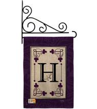 Classic H Initial Burlap - Impressions Decorative Metal Fansy Wall Bracket Garde - $33.97