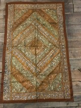 Quite Old Handembroidered Tablecloth 37x59 Inch Decorative Table Throw - $137.61