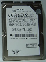 "120GB 2.5"" SATA HTS541612J9SA00 Hitachi 9.5mm 5400RPM Hard Drive Tested ... - $9.30"