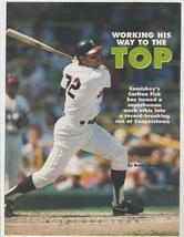 Chicago White Sox Carlton Fisk Batting at Comiskey Park 1990 Pinup Photo... - $1.99