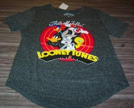 WOMEN'S TEEN LOONEY TUNES BUGS BUNNY DAFFY SYLVESTER TWEETY T-shirt XL NEW - $19.80
