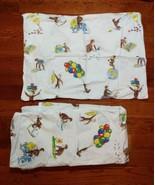 Pottery Barn Kids Full Size Flat Sheet & Pillowcase Set Curious George C... - $39.59