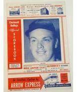1950 Cincinnati Reds Baseball Scorecard v NY Giants Unscored Rare Gus Be... - $59.35