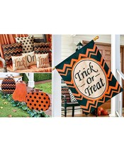 Halloween Printed Collection House Flag, Trick or Treat Pillows & Pumpki... - $2.337,25 MXN