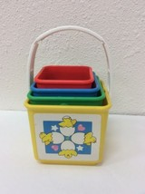 Fisher Price Stacking Activity Nesting Blocks Tote-A-Long Toys #1007 Cir... - $11.88