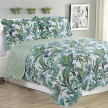 Melissa 3 Piece Quilt Set Jungle Green Down Comforters - $65.98