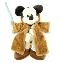 DisneyLand Plush Mickey Mouse as Star Wars Jedi Warrior with lightsaber - $9.47