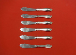 """Mount Vernon by Lunt Sterling Silver Trout Knife Set 6pc HHWS Custom 7 1/2"""" - $386.10"""