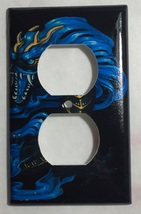 Chinese Blue Dragon Art Light Switch Power Outlet Duplex Cover Plate Home Decor image 2