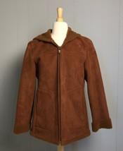Women's Jones New York Cognac Faux Suede Hooded Jacket Size S  - $18.99