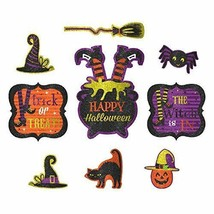 Friendly Witch Cutouts Halloween Decoration (9 Pack) - $13.29