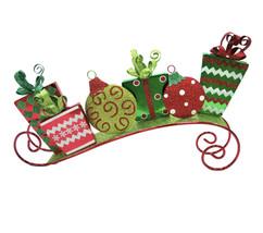 "Christmas decoration Iron Giftsleigh Decor, 8"" seasonal - $108.89"