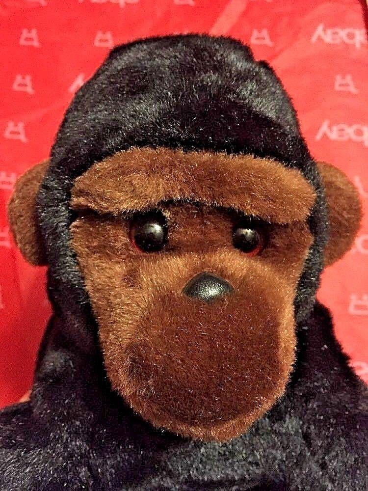 TY BEANIE BUDDIES retired 1999 Black & brown Seated Plush Gorilla mint unused