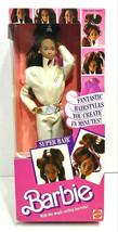 1986 Mattel Super Hair African American Barbie Doll 3296 Sealed - $40.00