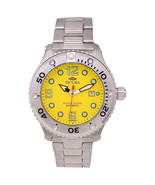 Sicura Man Watch SM606MY Silver/Yellow  Stainless Steel Diver Watch - $139.00