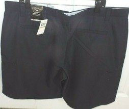 Callaway Mens Anthracite Golf Shorts Blue Wrinkle Resistant 42 Waist New... - $24.74