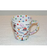 SANTA CRUZ CA. SOUVENIR FUN CITY & BEACH IMAGES 12 oz COFFEE MUG (G17) GUC  - $9.99