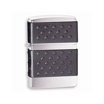 Zippo Zip Guard-Black Brushed Chrome Lighter - $31.58