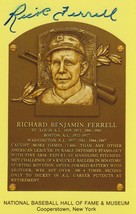 Rick Ferrell (d. 1995) Signed Autographed Hall of Fame Plaque Postcard - $19.99