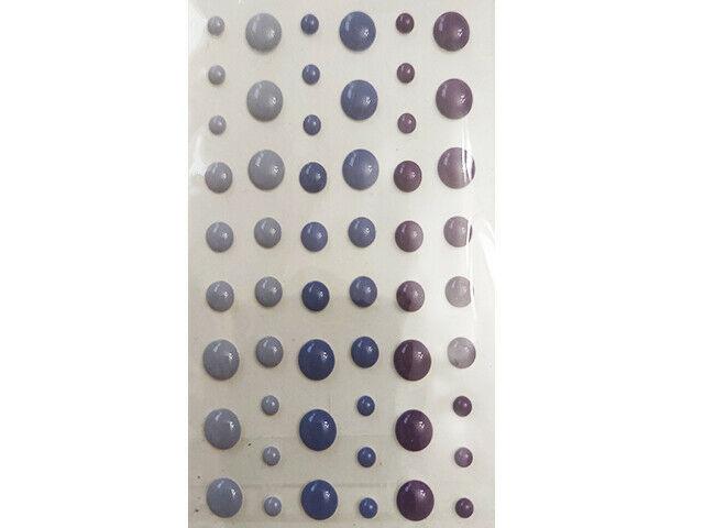 Purple Enamel Dots, Various Sizes, 54 Count