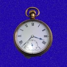WW1 Superb Vintage 14k Gold Valmor  Traveller 7 Jewelled  Pocket Watch 1918 - $279.27