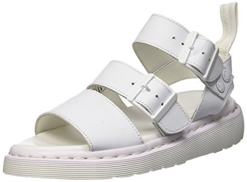 Dr. Martens Women's Gryphon Strap Fashion Sandals, White Leather, 3 M UK, 5 M US