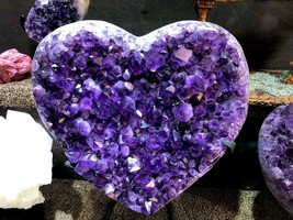AMETHYST HEART VALENTINES DAY GIFT PIRATE GOLD COINS TREASURES CRYSTAL Q... - $7,450.00