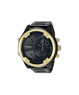 BRAND NEW DIESEL DZ7418 BOLTDOWN BLACK STAINLESS STEEL GOLD CHRONO MEN'S... - £151.41 GBP