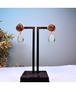 Amazonite Earrings, Amazonite Stone with Coin Earrings, Roman Coin Earrings - $69.00