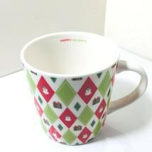 Starbucks Barista 2003 Christmas HAPPY HOLIDAYS Coffee Mug Cup Snowmen Gift Box - $16.82