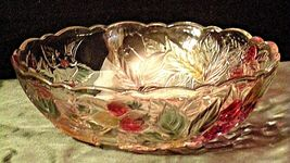 Heavy Etched Cut Glass  Punch Bowl AA20-CD0056 Vintage image 8