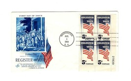 FDC ENVELOPE-REGISTER AND VOTE-VOTING DAY BL4-1964 ART CRAFT CACHET BK12 - $2.18