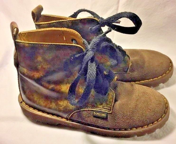 Primary image for Dr. Martens Brown Leather Casual Boots Steampunk Youth Size 1 Brown/camo England