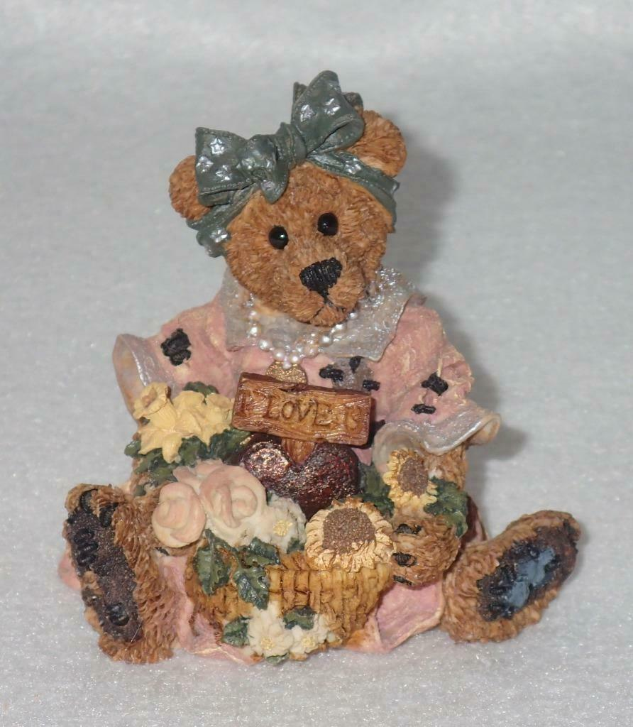Boyd Bearstone Resin Bears Justina The Message Bearer Figurine #2273 27E NEW