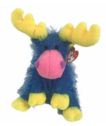 """TY Punkies Marbles The Moose Blue Yellow & Pink 8"""" Plush 2003 - $8.90"""
