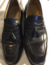 Cole Haan Black Leather Air Geraldo Loafers  Tassel Size 11.5 - $59.39