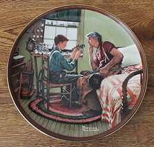 "Norman Rockwell Plate 1989 ""The Inventor and the Judge"" with all papers ... - $7.66"