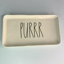 "Rae Dunn Artisan Collection Magenta - 'PURRR' Cat Kitty Tray Dish - 9"" - $17.75"