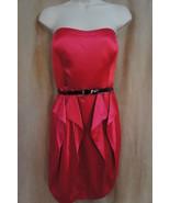 Jessica Simpson Robe Taille 10 Rose Satin avec Ceinture sans Bretelle Pl... - $79.17