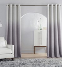 Four JCPenney Home Sullivan Lavender Smoke Ombré Blackout Curtains 50 X 95 - $280.00