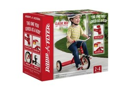 """Radio Flyer 34B / 34 Classic Red 10"""" Tricycle Steel & Chrome Construction - $59.99"""