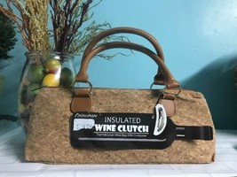 Wine Bag Insulated Thermal Lined Lunch Satchel Corkscrew Material PRIMEW... - $19.75