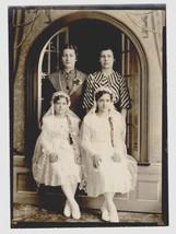 Girls Confirmation Antique Photograph White Cotton Dresses Headpieces Vi... - $14.99