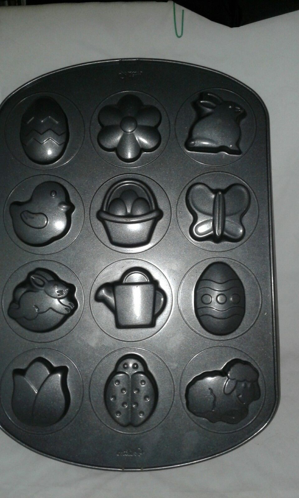 Wilton Cookie Pan Mold Spring Easter Non Stick Egg Bunny Sheep Flowers Chick - $14.99