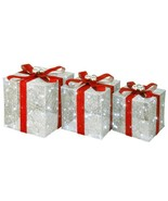 12 in. x 14 in. x 16 in. Pre-Lit Crystal Champagne Gift Box Assortment - $110.92