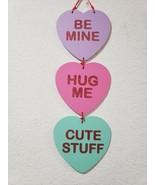 "Valentines Day Conversation Heart Hanging Sign Decor Decoration 20"" - $12.99"