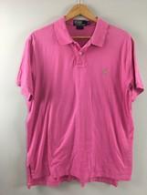 Polo Ralph Lauren Polo Shirt XL Mens Pink Green Pony Preppy CC4 - $39.59