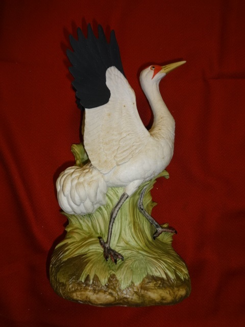 EZRA BROOKS Wildlife Collector Series WHOOPING CRANE porcelain decanter